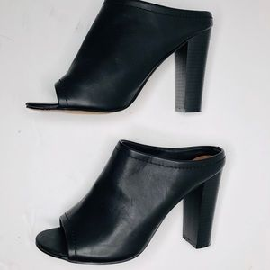 Mossimo Faux Leather high heel Mules Size 8.5